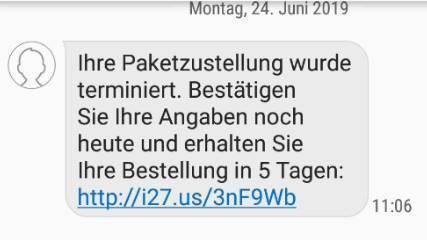 SMS wie diese sollen den Nutzer in eine Falle locken.