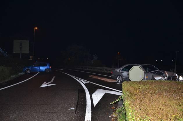 Die beiden Unfallautos.