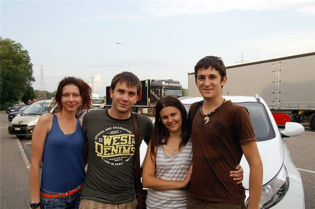 Diese vier Freunde aus der Ukraine und der Slowakei haben schon 1300 Kilometer hinter sich.