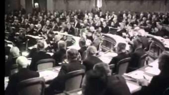 Die Zauberformel besteht seit den Bundesratswahlen 1959. Bild: Schweizer Filmwochenschau'