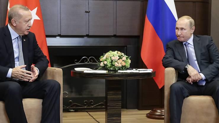 Russlands Putin und Türkeis Erdogan einigen sich auf eine Verlängerung der Waffenruhe Syrien.