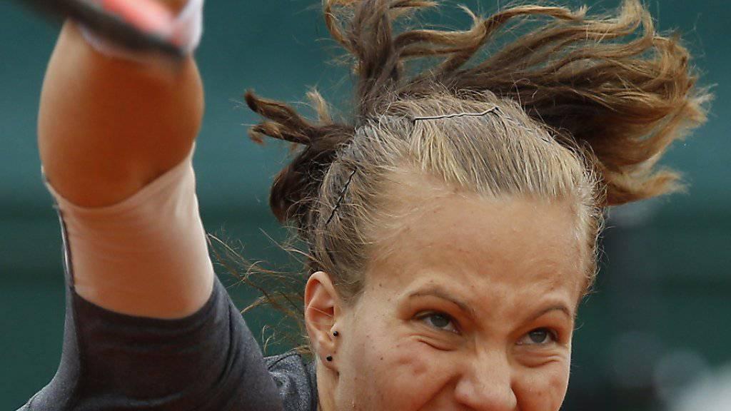 Viktorija Golubic bringt Saft in den Aufschlag