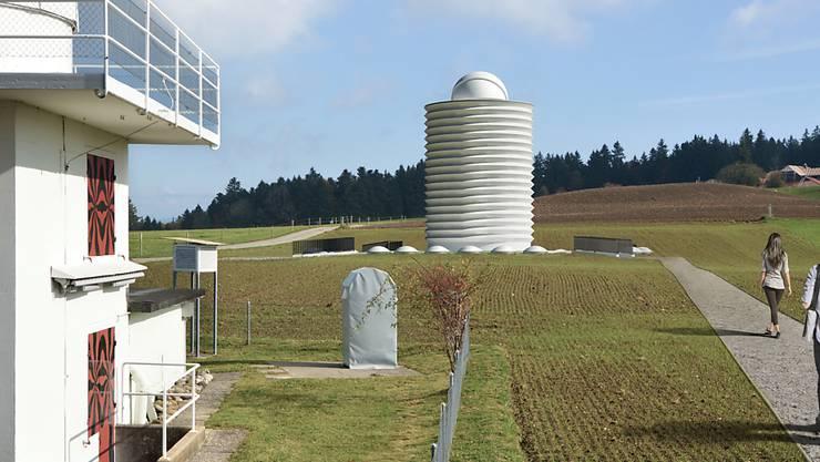 So futuristisch könnte die Sternwarte von Mario Botta einst aussehen.