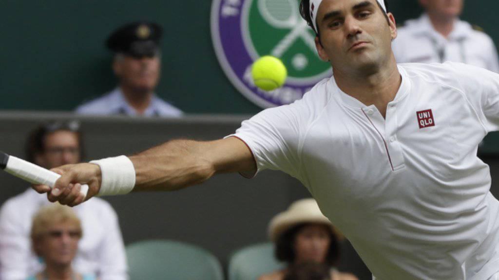 Fast nie in Bedrängnis: Roger Federer zog völlig ohne Probleme in die 2. Runde von Wimbledon ein
