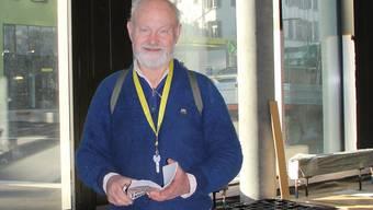 Heinz Trachsel im noch leeren Gewerberaum im Campus-Neubau.