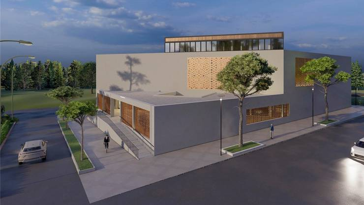 Die albanisch-islamische Gemeinschaft plant den grössten Moscheen-Neubau im Aargau. Das Baugesuch soll morgen eingereicht werden (AZ von gestern).Bild: zvg