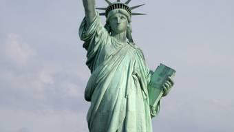 New Yorks Freiheitsstatue noch vor den Renovierungsarbeiten
