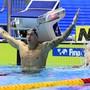 Caeleb Dressel jubelt nach seinem Triumph über 100 m Crawl
