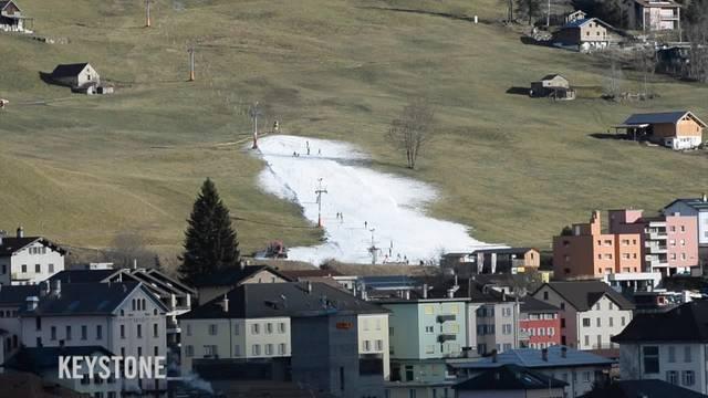 Grüne Wiesen statt weisser Schnee: Der Schneemangel ist prekär
