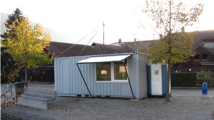 Bis am Freitag stand dieser Container der Jugendarbeit Thal noch in Matzendorf.