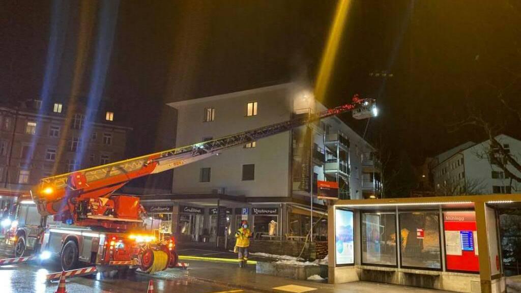 Brand beim Grillieren: St.Galler Feuerwehr im Einsatz