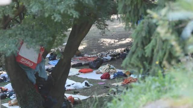 Gestrandete Flüchtlinge in Como