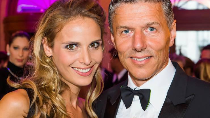 Nadja Kamm mit Ehemann René Kamm, CEO der Messe Basel.