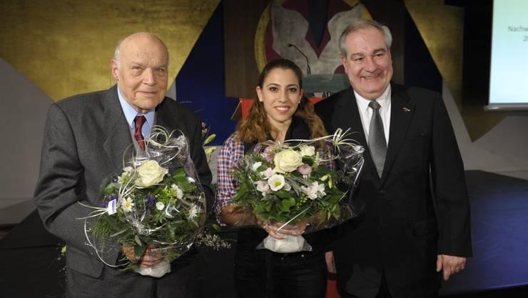 Historiker German Vogt, Ayça Bulut und Boris Banga