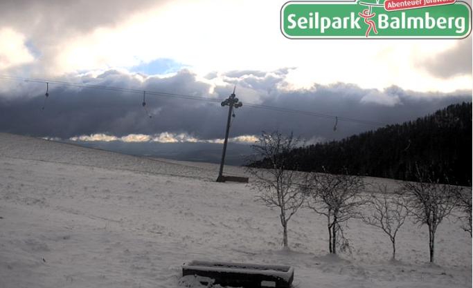 Auf dem Balmberg blieb der Schnee liegen.