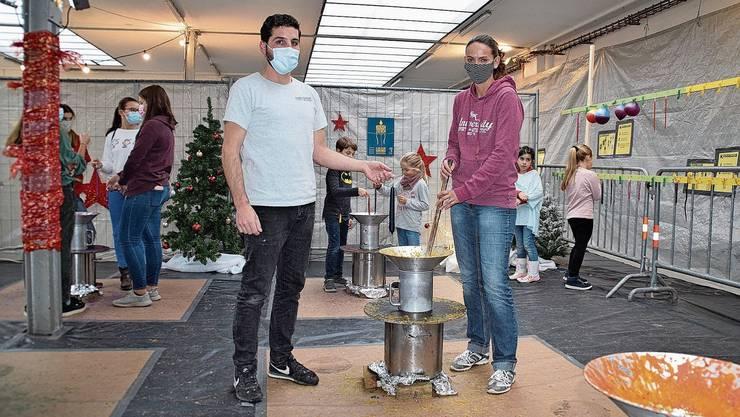 Weniger Stress: Organisator Luca Baldelli und Geschäftsführerin Karin Stoll gewinnen den Coronamassnahmen auch Positives ab.