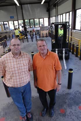 2006 übernahm die Regiomech die Logistikausbildung der Firma Avesco. v.l. Michael Studer, Leiter Abteilung Logistik und Ignaz Moser, Geschaeftsfuehrer GSF.