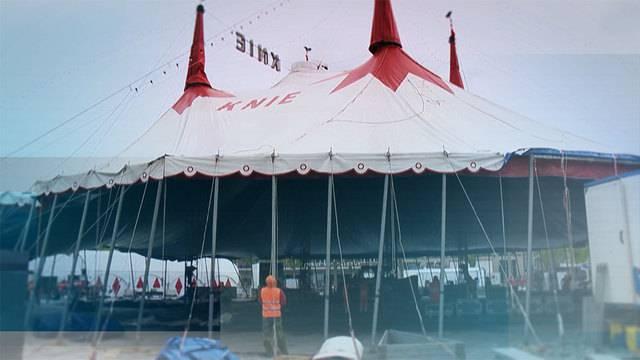 Neues Zelt für Zirkus Knie