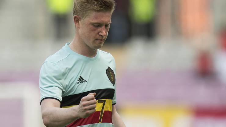 Der belgische Superstar Kevin De Bruyne feiert seinen Treffer zum 2:1
