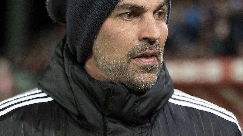 Enttäuschung bei Luzerns Trainer Markus Babbel nach dem Cup-Out gegen den FC Sion
