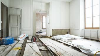 Bauarbeiten in der Zurlinden-Villa in Aarau