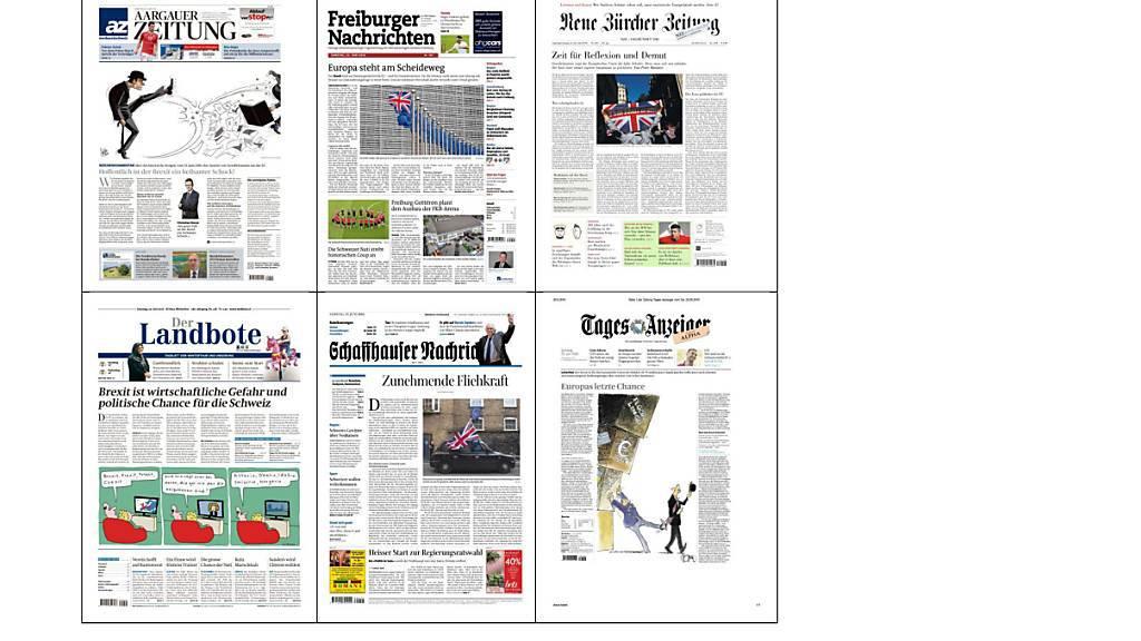 Das Ja zum Nein zur EU: So sehen Kommentatoren und Karikaturisten der Schweizer Tageszeitungen den Brexit.