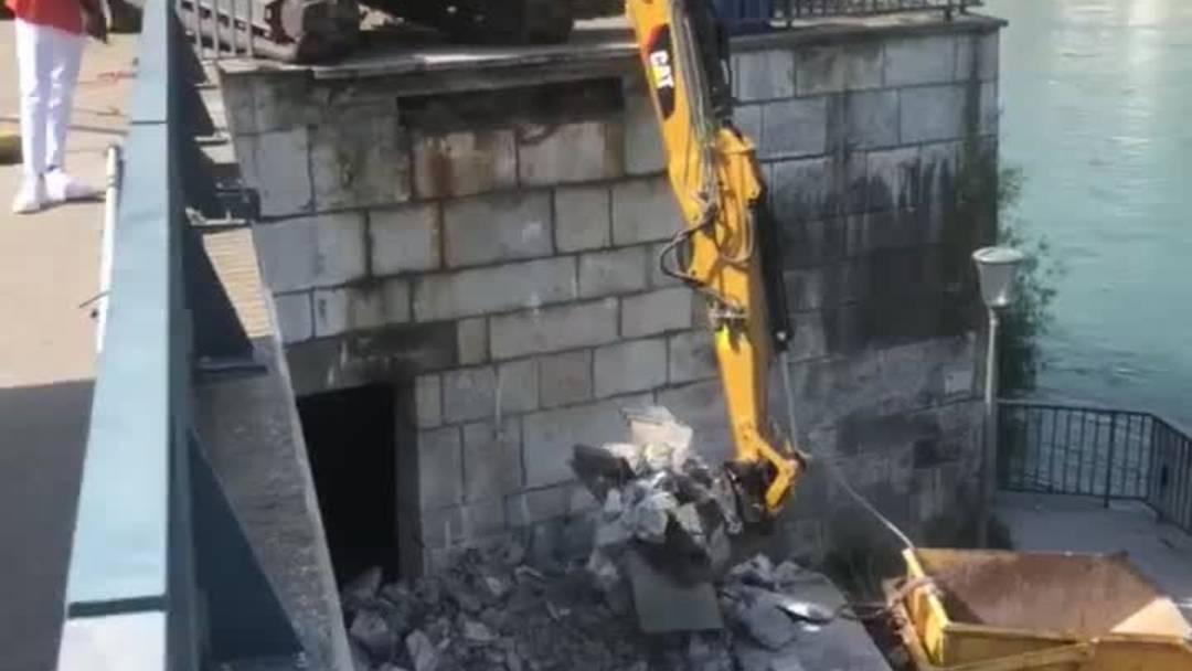 Die Bauarbeiten beim Ländiweg laufen