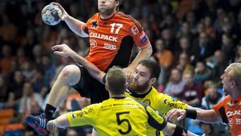 Gabor Csaszar (Nr. 17) erzielte nicht weniger als 9 Tore für die Kadetten