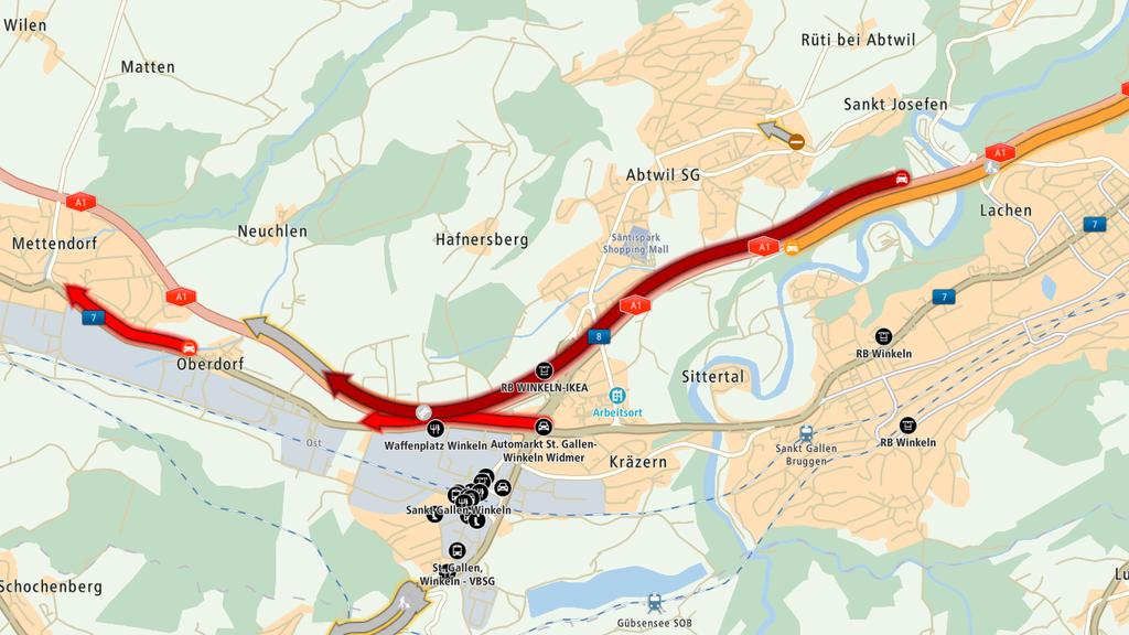 Mega-Stau auf Stadtautobahn: Pick-up verliert Gerüstteile