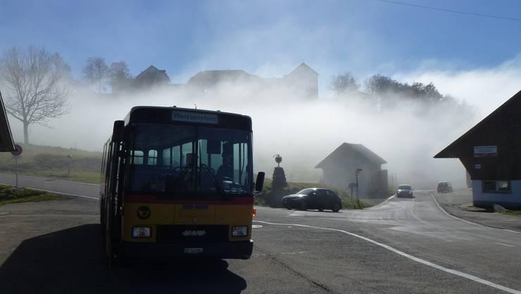 Am Mittwoch, 24. Oktober 2012 lag die Nebelgrenze gleich unter dem Kurhaus Weissenstein