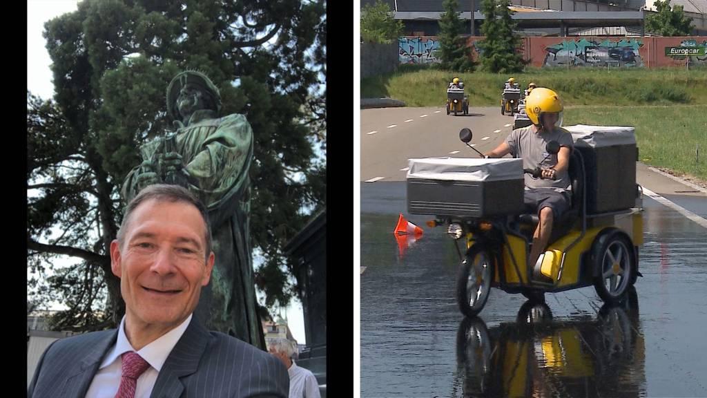 Achtung, Fertig, Züri Fäscht! / Dreirad-Training für Briefträger