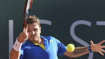 Mit einiger Mühe in den Halbfinal: Stan Wawrinka in Genf