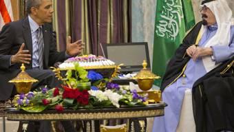 US-Präsident Obama im Gespräch mit dem saudischen König Abdullah