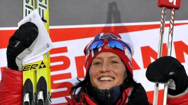 Marit Björgen jubelt auch in Davos