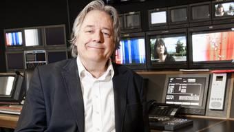 Der abtretende «Telebasel»-Chefredaktor Willy Surbeck im Regieraum.