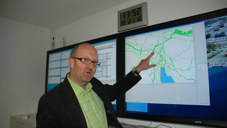 Joos Bernhard: «Wenn Verkehr stillsteht, dann dort, wo es am wenigsten stört.» (Bild: Matthias Scharrer)