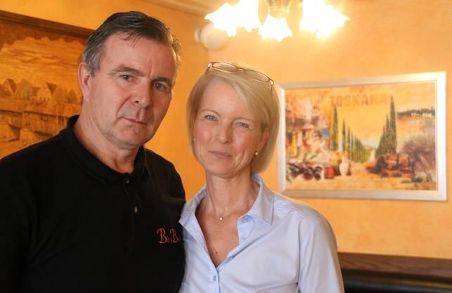 Geschäftsführer Valerio De Conti und seine Lebensgefährtin Angela Albicker wünschen sich eine Pianobar.