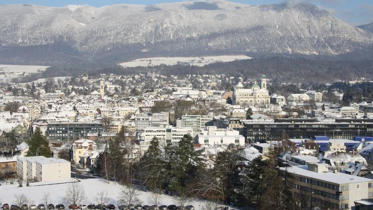 Die verschneite Stadt Solothurn im Januar.