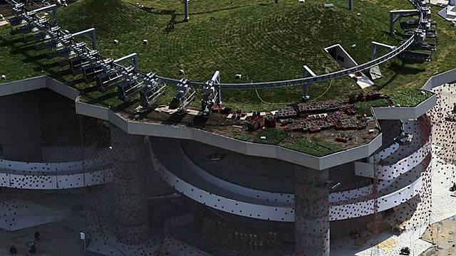 Stillstand auf dem Dach der Schweizer Pavillons