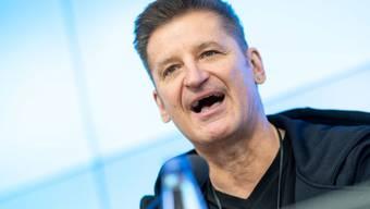 Hartmut Engler, Sänger der Band Pur, nimmt am 11. Februar 2019 an einer Pressekonferenz zur Alphabetisierung in Baden-Württemberg teil. Auf der Pressekonferenz wurde Pur-Sänger Engler als neuer Botschafter für das Thema im Bundesland vorgestellt. (Archiv)