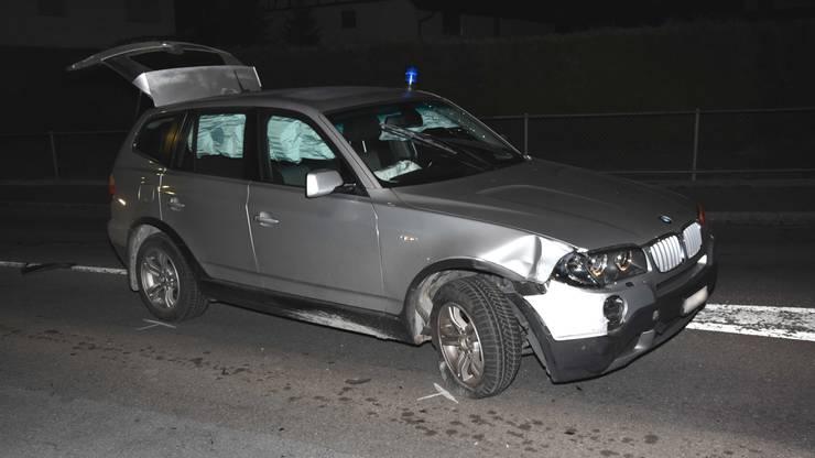 Auch das Fahrzeug der Grenzwächter wurde beim Unfall beschädigt.