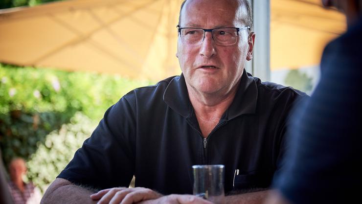Norbert Mayer im Café Positano.