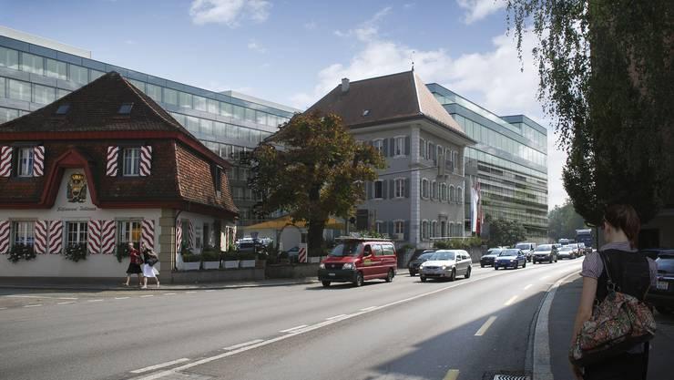 «Energy» (im Hintergrund) kommt zum Handkuss: Rund drei Viertel des Gebäudes werden ab November 2014 von der SBB-Cargo-Administration belegt.