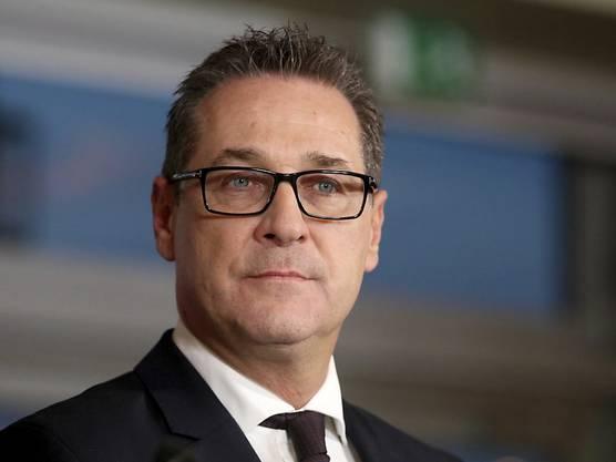 Der österreichische Vize-Kanzler Strache von der rechtspopulistischen FPÖ.