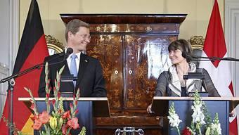 Westerwelle und Calmy-Rey bei ihren Treffen in Bern