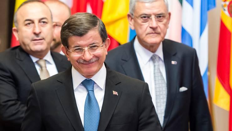Um ihn dreht sich alles heute in Brüssel: Ahmet Davutoglu, türkischer Premier.
