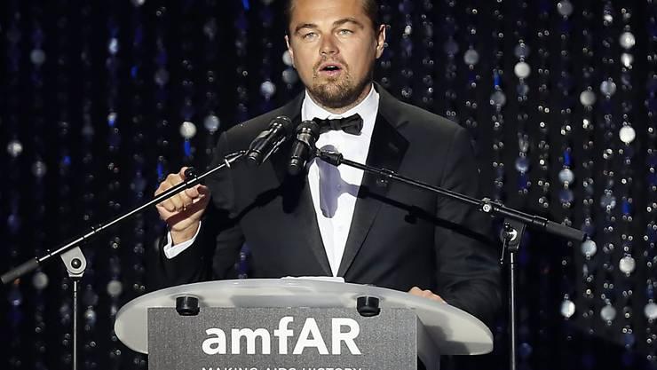 Leonardo DiCaprio am Donnerstag auf der Aids-Gala in Cannes. Er spendete einen Ferienaufenthalt auf seinem Anwesen, der für 300'000 Euro versteigert wurde.