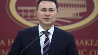 Nikola Gruevski am Donnerstagabend bei der Ankündigung seines Rücktritts.