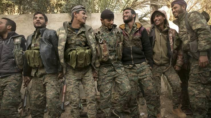 Die kurdischen Kämpfer vertreiben den IS.