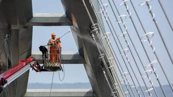 Renovationsarbeiten an der Archbrücke